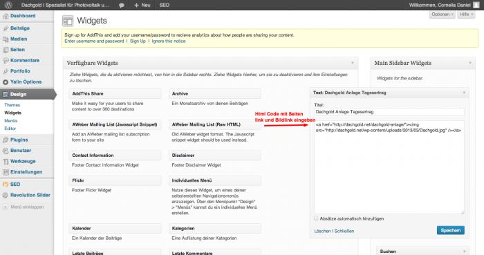 Widget-Wordpress-Einbauen