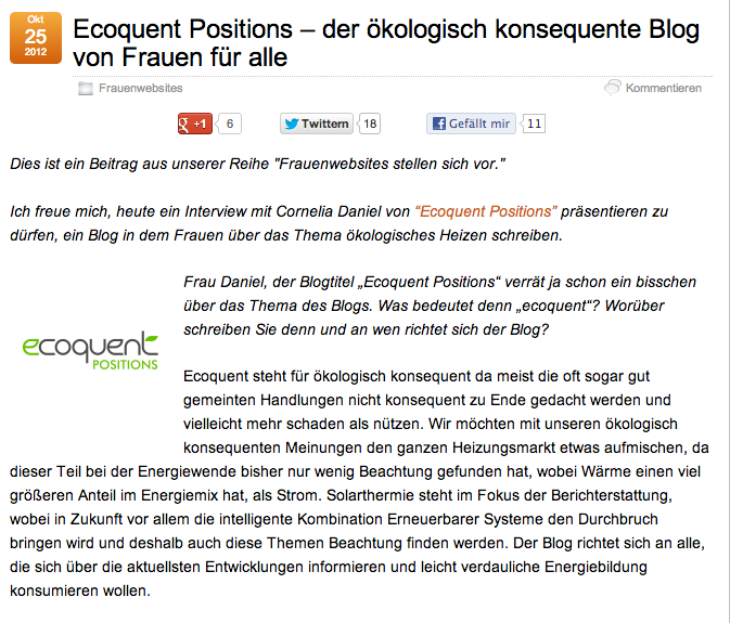 Interview Ecoquent-Positions